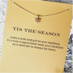 Jewelry - Snowflake Necklace with Card Seasonal Gift